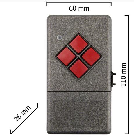 Dickert S20-433A4000 Handsender LinearCode 40 Kanal 433 MHz AM