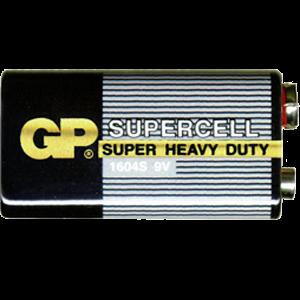 9 V Batterie, Zink-Kohle, Typ 6F22