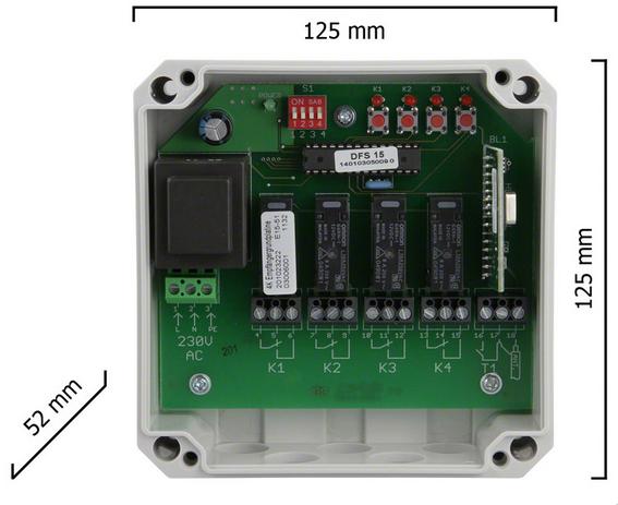 Dickert E15-43A400 Empfänger 12Bit, 18Bit, oder Keeloq 433 MHz