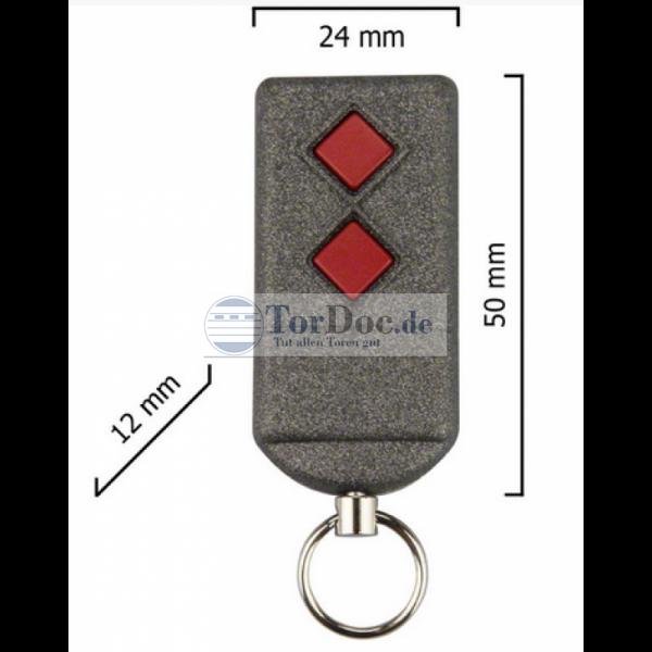 Dickert S5Q-433A2L00 Handsender, Linear-Code, 2 Kanal, 433,92 Mhz
