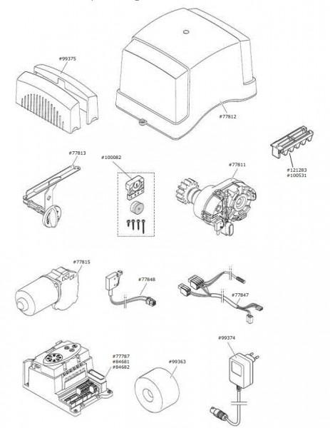 Marantec Steuerungseinheit Control x.81 accu/solar Comfort 870