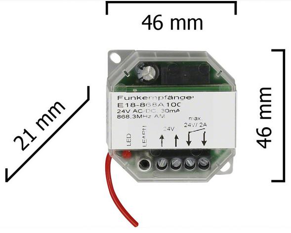 Dickert E18-433A100 Funkempfänger 24V AC/DC 1 Kanal 433 MHz AM