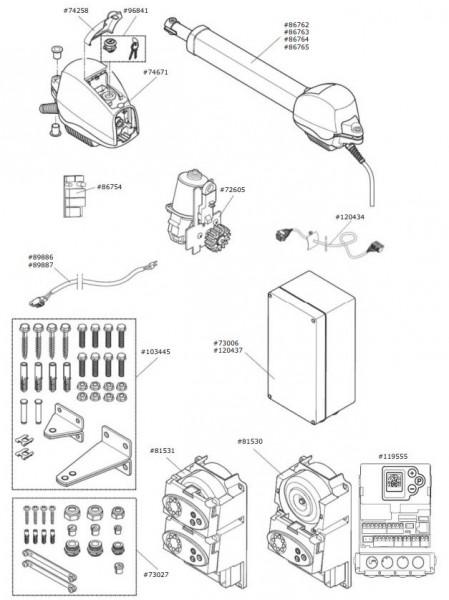 Marantec Motor-Aggregat für Comfort 515, 1.500 mm