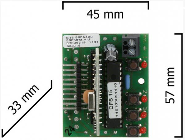 Dickert E16-43A400 Empfänger 4 Kanal 433 MHz AM