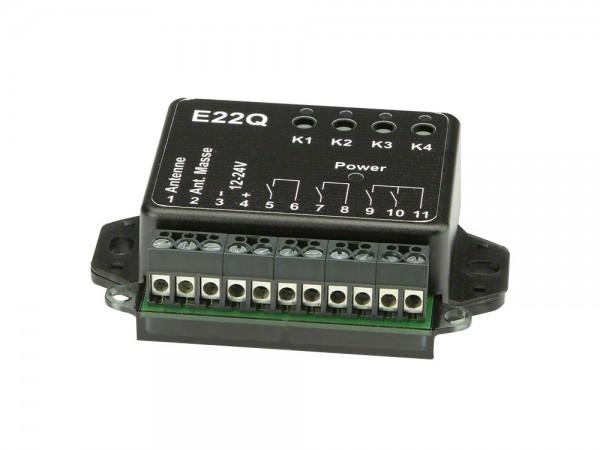 Dickert E22Q-433A400 Mini Funkempfänger, 4 Kanal 433,92