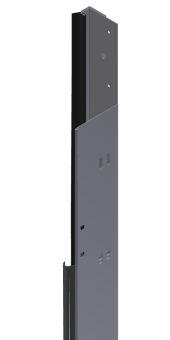 Teckentrup senkrechter Zargengrundkörper rechts ohne Zubehör RAL 9016