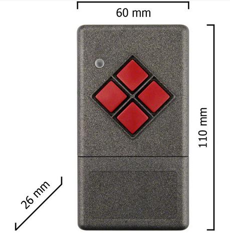 Dickert S20-868A4L00 Handsender LinearCode 4 Kanal 868 MHz