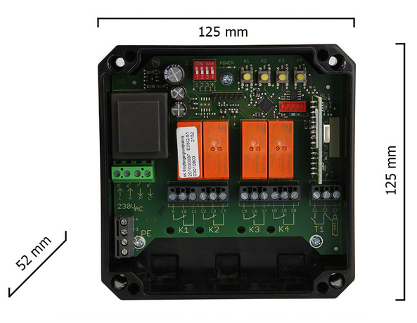 Dickert E25Q-433A400 Funkempfänger QuickLog 4 Kanal 433 MHz AM