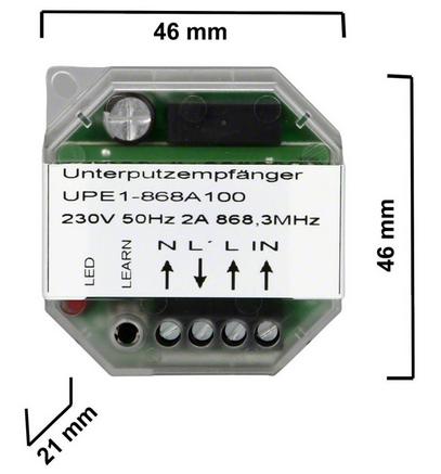 Dickert UPE1-433A100 UP-Funkempfänger 230V 1 Kanal 433 MHz