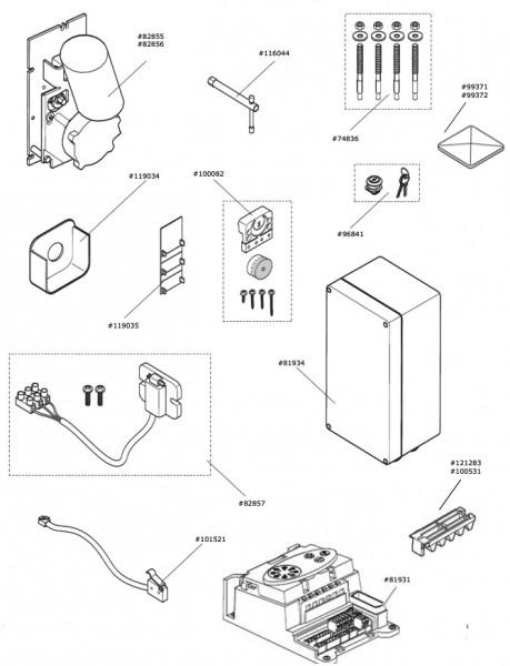 Marantec Motor-Getriebeeinheit für Comfort 851, 861
