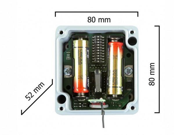 Dickert DZS25-433A1KL00, Deckenzugschalter, Kunststoffgehäuse, KeeLoq, 433,92 MHz