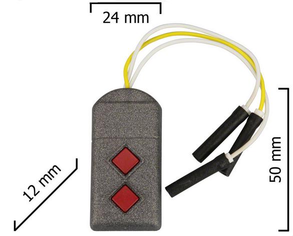 Dickert S5U-868A2L00 Handsender, Linear-Code, 2-Kanal 868 MHz